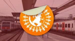 Tren amb mascara