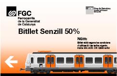 Bitllet senzill 50 percent