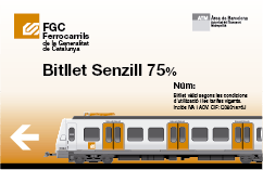 Bitllet senzill 75