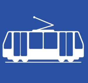 tranvía azul