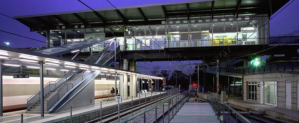 Estació amb pont