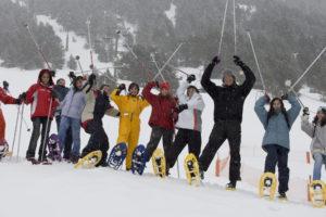 Foto grupal esquí