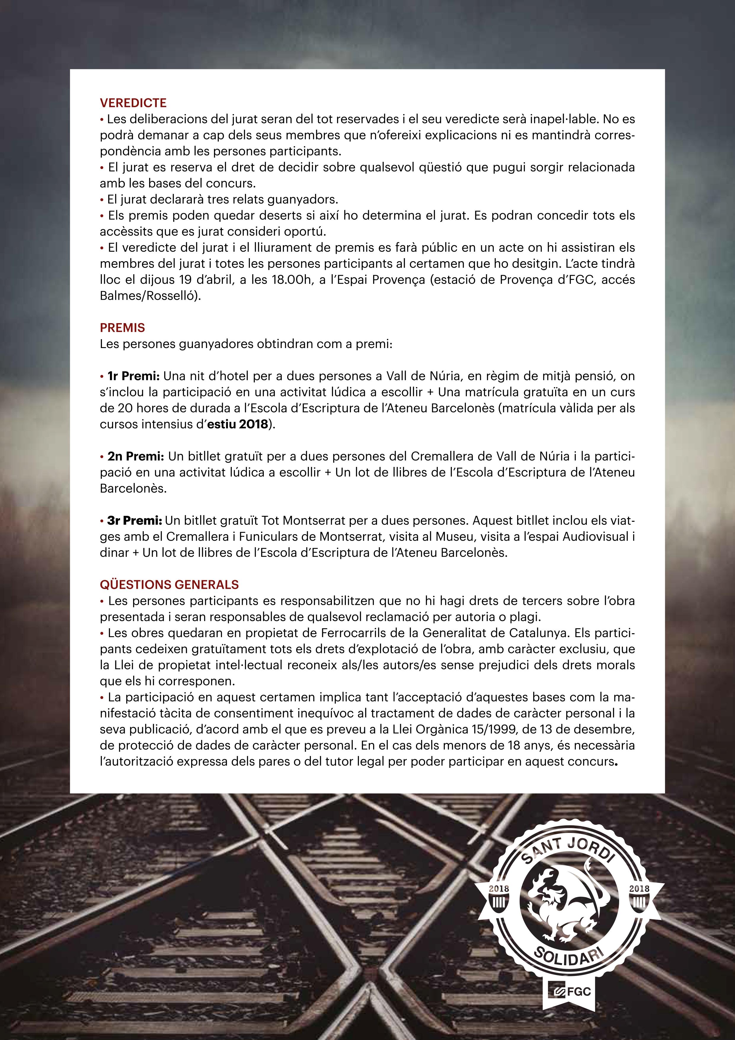 Sant Jordi Solidari veredicte i premis
