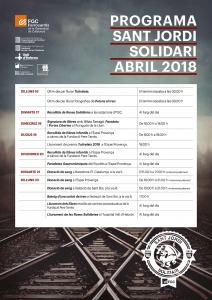 Programa Sant Jordi solidari abril 2018