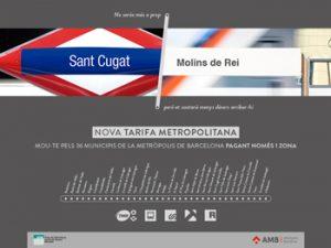 Informació  nova tarifa metropolitana