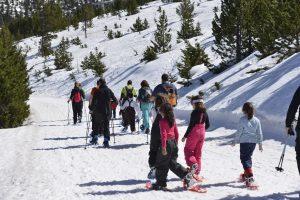 Grup de nens a la neu