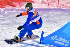 Esquiadora a La Molina
