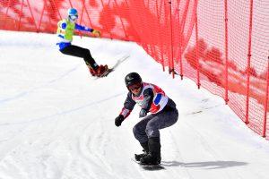 Dos esquiadors