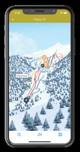 Mòbil i mapa 3D pista Espot Esquí