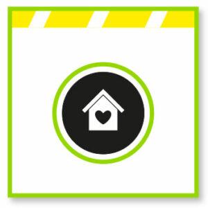 Logo casa amb cor