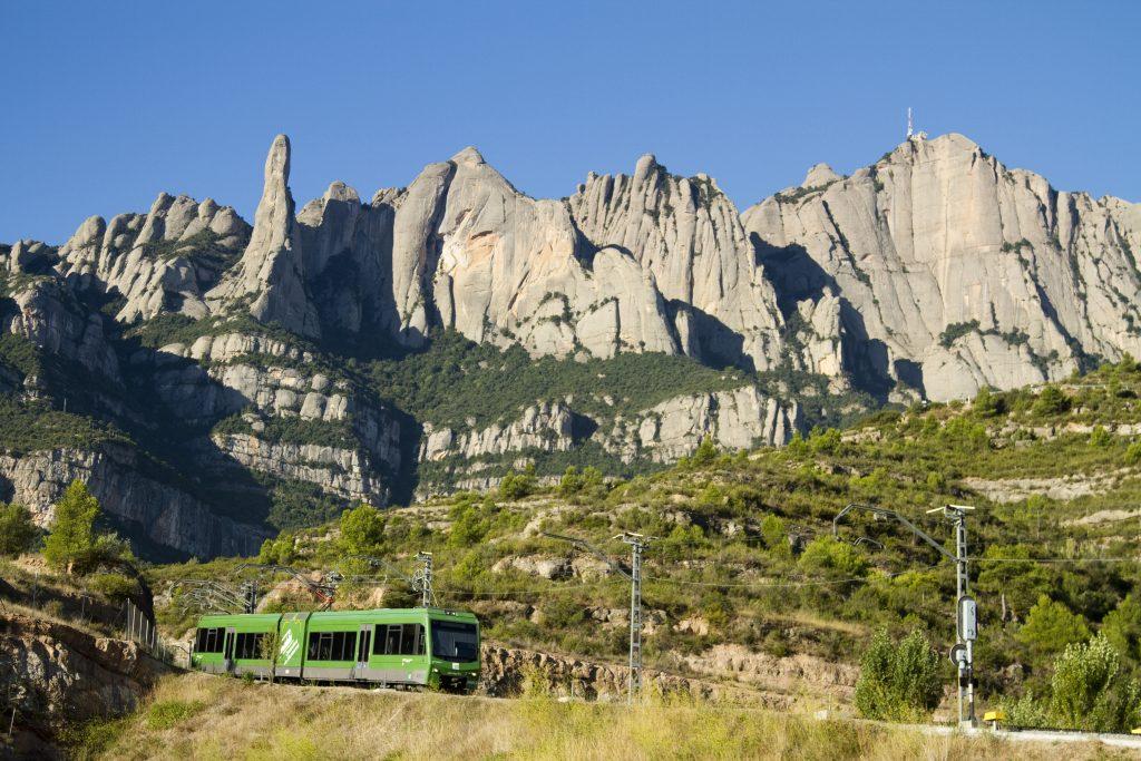 Montserrat cremallera and funicular