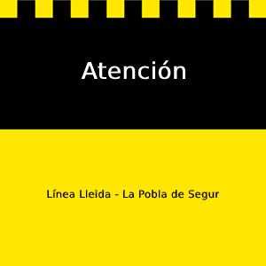 Cartel atención Lleida La Pobla de Segur