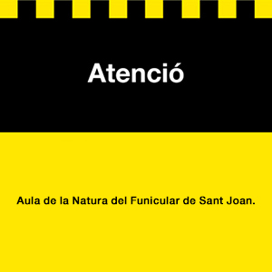 Atenció aula de la natura funicular St Joan