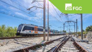 vías y tren FGC