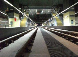 Vies interior estació FGC