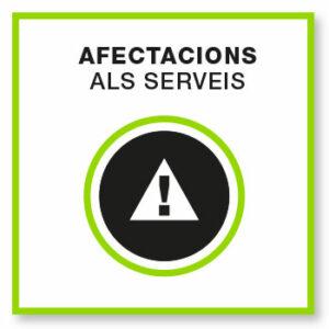 Afectacions als serveis logo