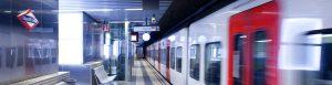 Estació FGC amb tren