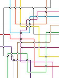 Dibujo lineas tren