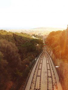 Funicular FGC Railway in Barcelona