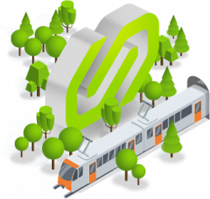 Tren FGC en 3D
