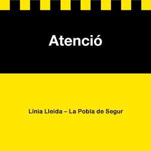 Logo atenció línia Lleida Pobla de Segur