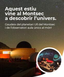 Descobrir l'univers a Montsec, pòster