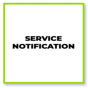 Service notification