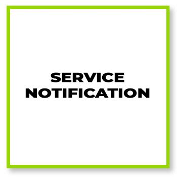 Service notification