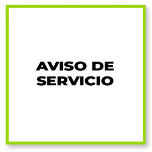 Aviso de servicio