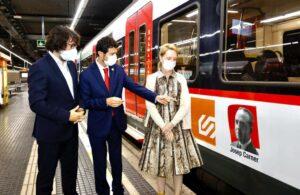 Adhesiu de Josep Carner a tren FGC