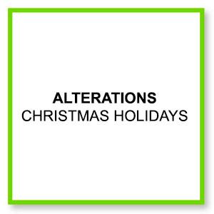 Alterations christmas holidays