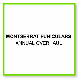 Annual overhaul montserrat funiculars