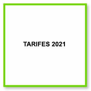 tarifes 2021