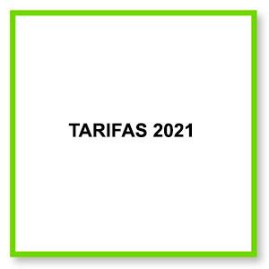 tarifas 2021