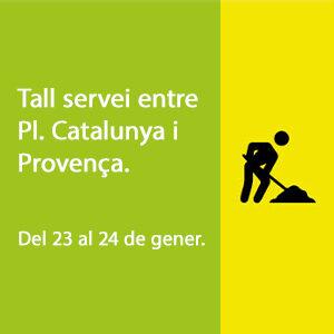 tall de servei entre pl. catalunya y provença