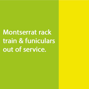 Montserrat rack train and funiculars out of service