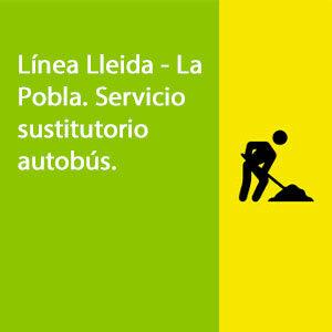 Línea Lleida - La pobla. Servidio sustitutorio autobús